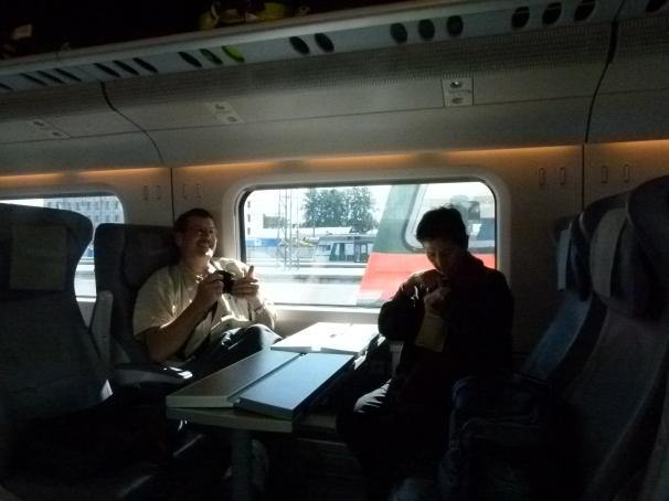 Saint Petersburg - Helsinki :  On the train