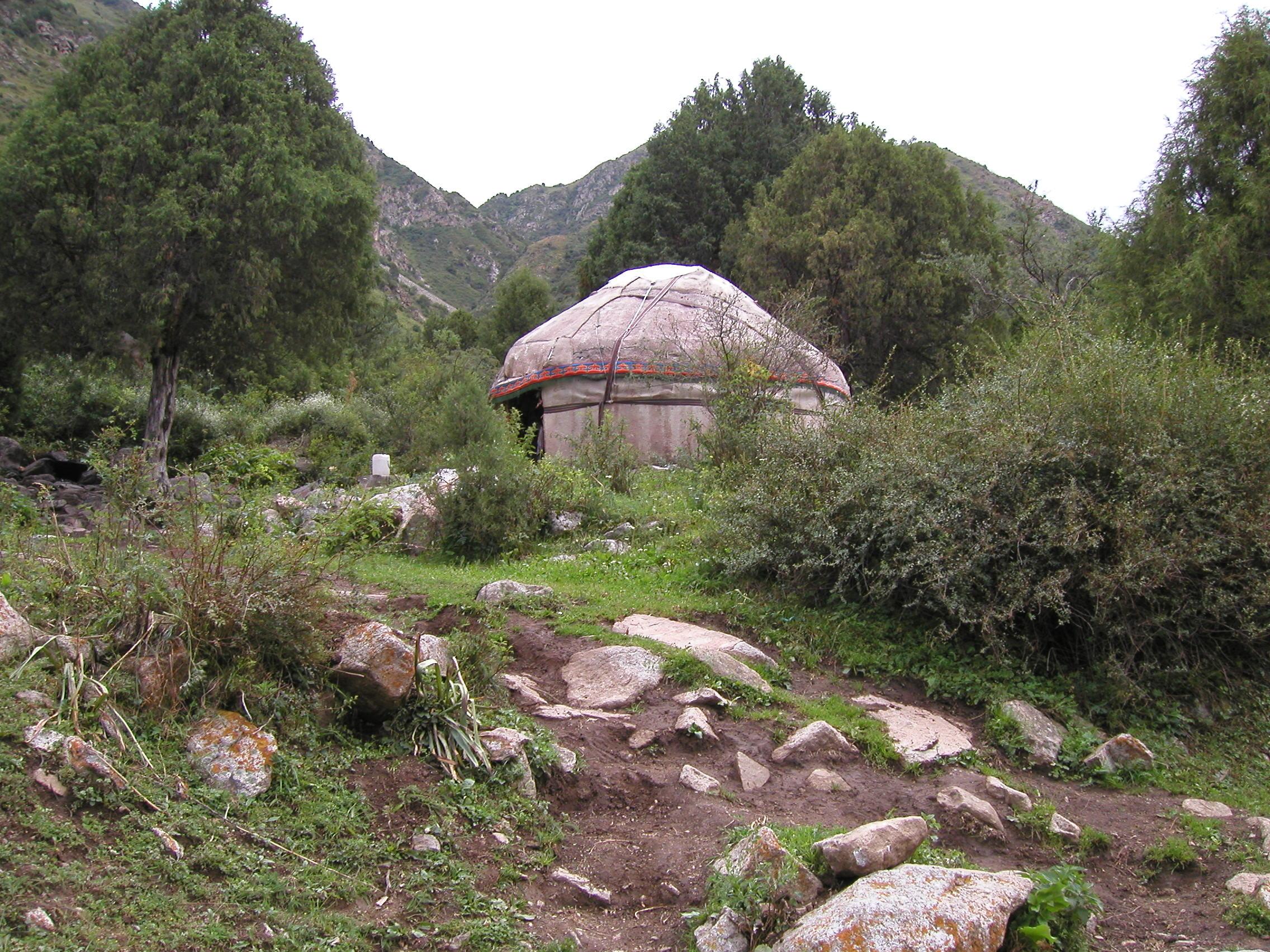 Kyrgystan:  Yurt in Tien Shan Mountains