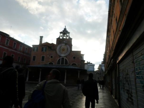 Venice: on our way to the Piazza San Marco at 6 am