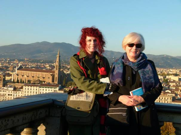 Florence:  Across the Arno looking at the city