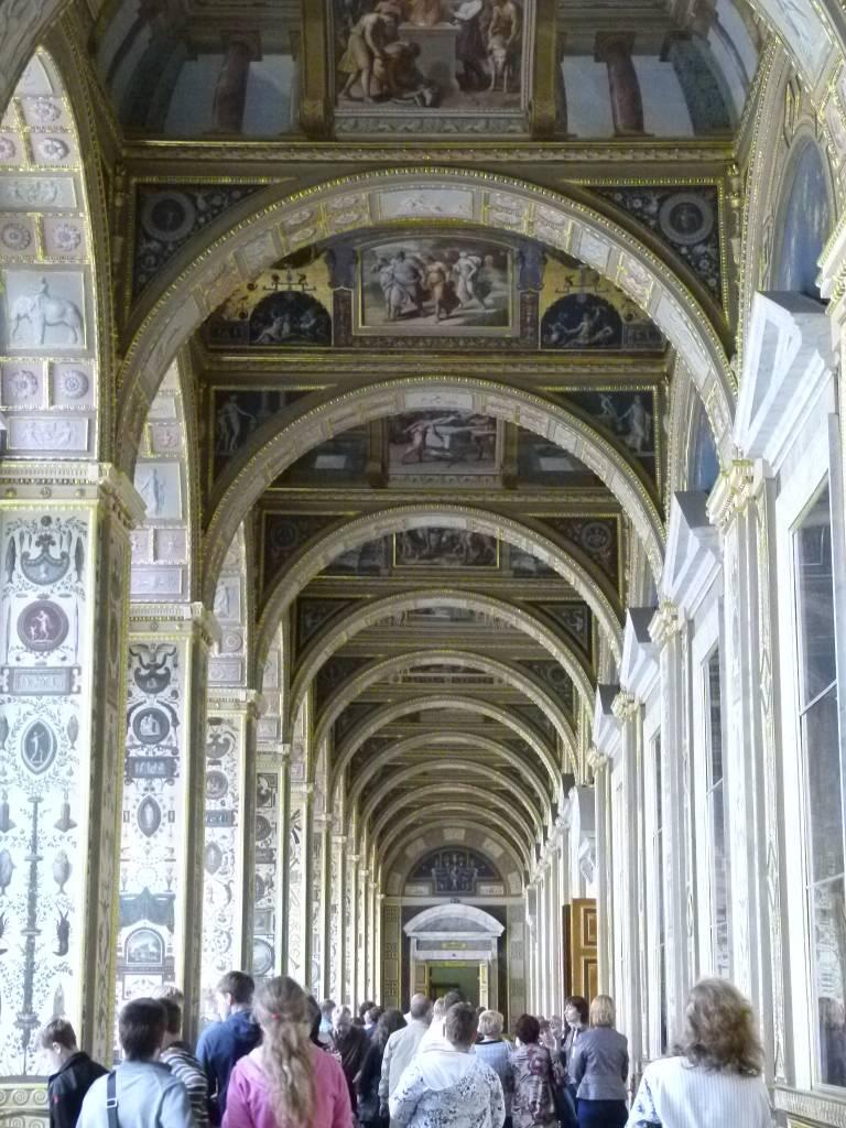 Saint Petersburg:  Hermitage:  Raphael Loggia replica