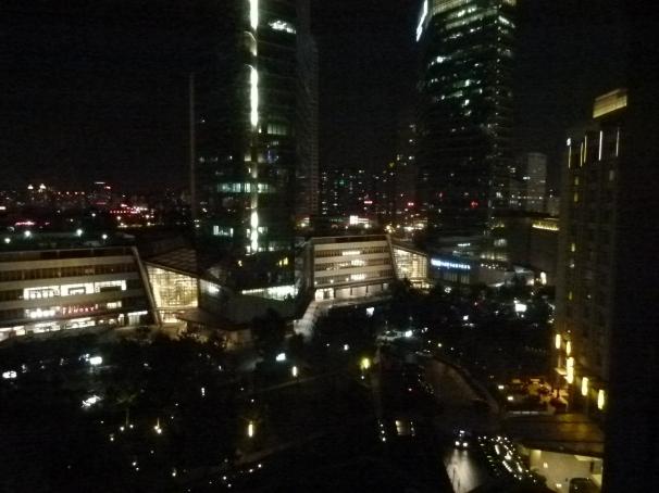 Beijing:  Night from My Hotel Window