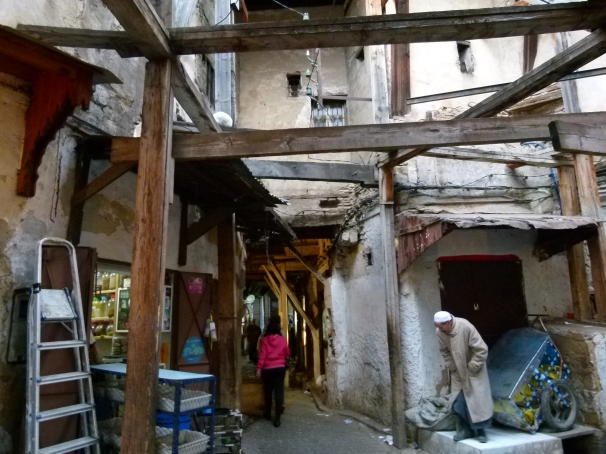 Fes el Bali:  Structural Beams Seem to Hold Up Walls